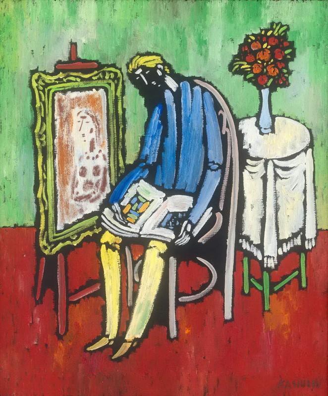 V. Kasiulis. A painter thinks. 20 century, the fifties.