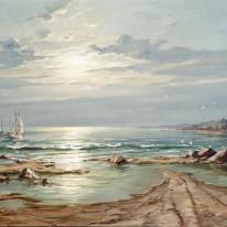 Jūra pavakare. Apie 1950–1955....