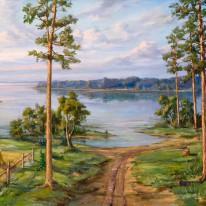 Pušys prie ežero. Apie 1958. V...