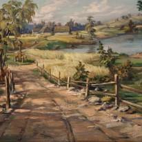 Kelias namo. Apie 1950–1955. V...