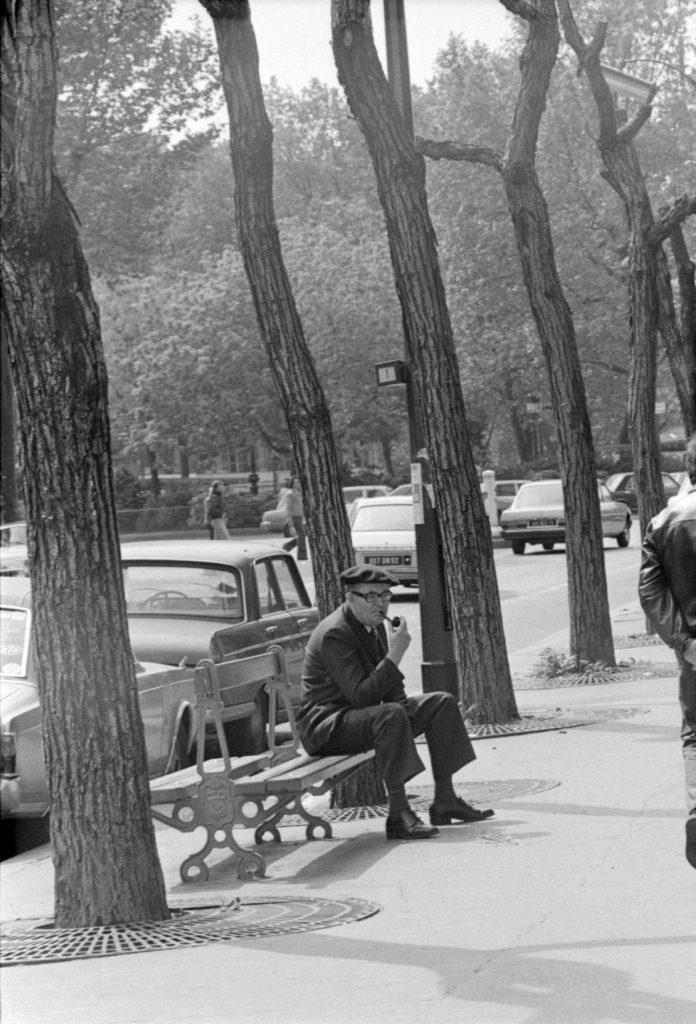 Juozas Budraitis. Sen Mišelio bulvaras, šalia Liuksemburgo sodo. Paryžius, 1979