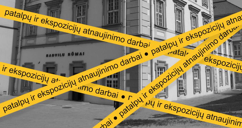 """<span class=""""slider-name""""><a href=""""https://www.lndm.lt/demesio-nuo-2019-m-liepos-16-d-iki-2020-m-balandzio-30-d-radvilu-rumu-muziejus-nedirbs/"""">DĖMESIO! Radvilų rūmų muziejus šiuo metu nedirba. Pirmoji paroda šiemet – """"Protesto menas"""" iš Vladimiro Tarasovo dovanotos kolekcijos nuo spalio 8 d.</a></span><span class=""""sldier-meta"""">Nuo 2019 m. liepos 16 d. iki 2020 m. spalio 8 d. </span>"""